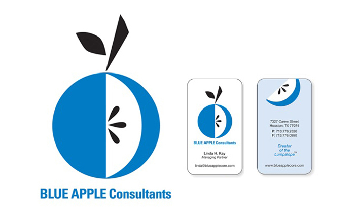 Logo design and business card design:  Blue Apple Consultants