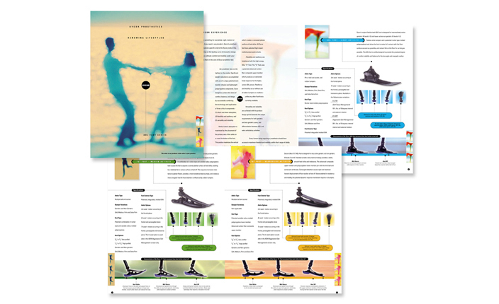 Advertisement Catalogue:  Dycor prosthetic foot