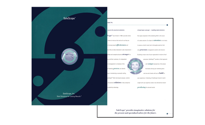Brochure design:  SalesScope
