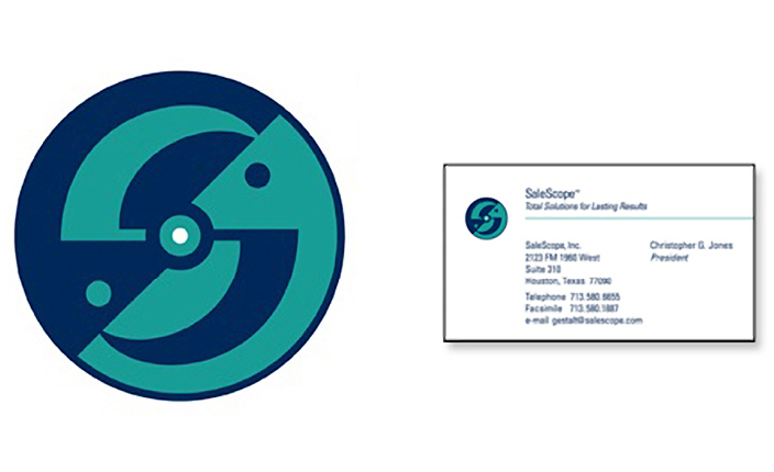 Brand logo design and business card design: SalesScope