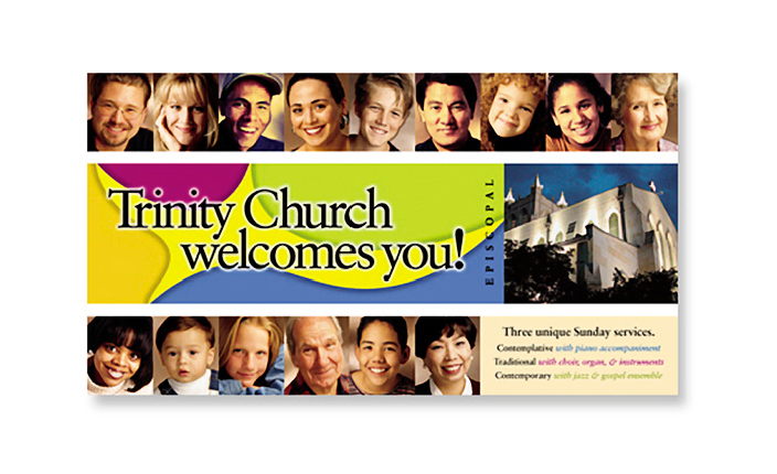 Advertising:  Trinity Church postcard