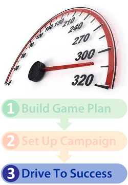 Marketing campaign process diagram Step 3 drive to success